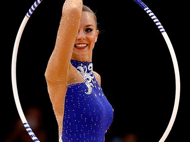 Joanna Mitrosz podczas występu (fot. Getty Images)