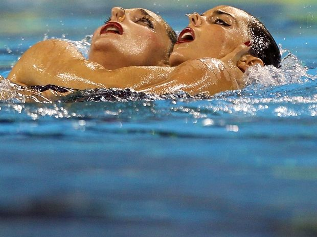 Ona Carbonell i Andrea Fuentes (fot. Getty Images)