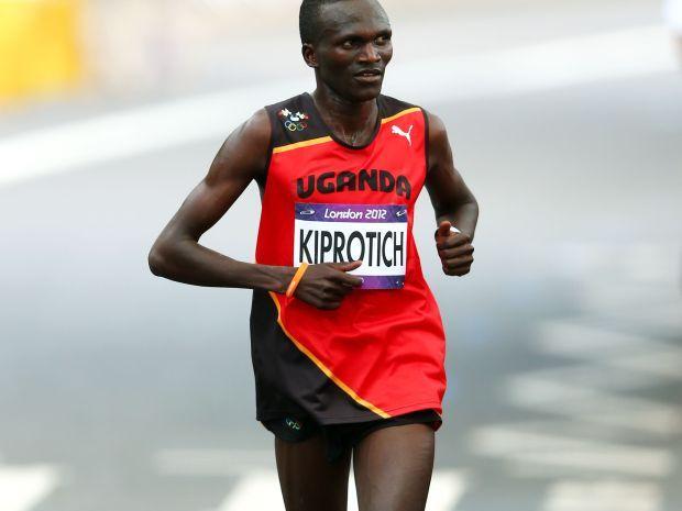 Stephen Kiprotich na trasie  maratonu olimpijskiego (fot. Getty Images)