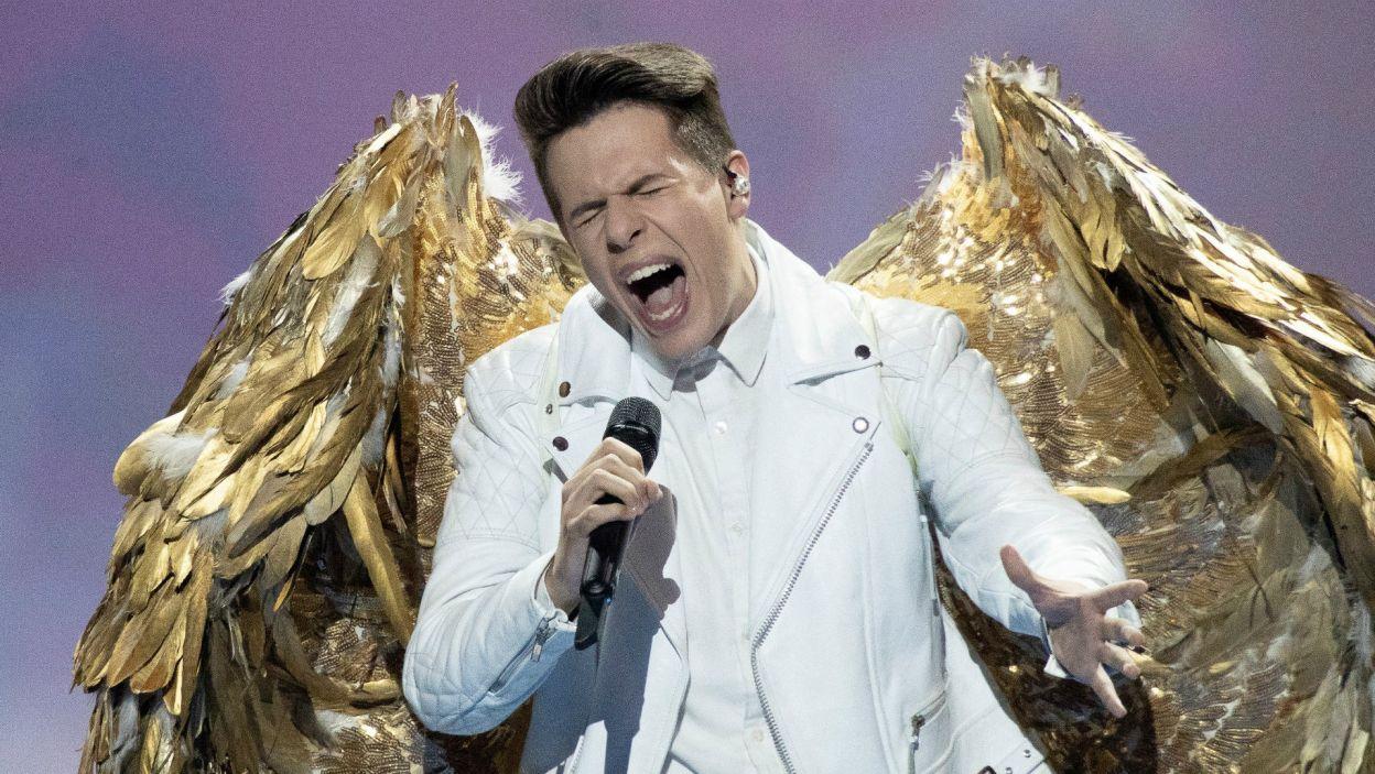 Roko zaśpiewał o swoim marzeniu, lecz skrzydła nie poniosły Chorwata do finału (fot. Andres Putting/EBU)