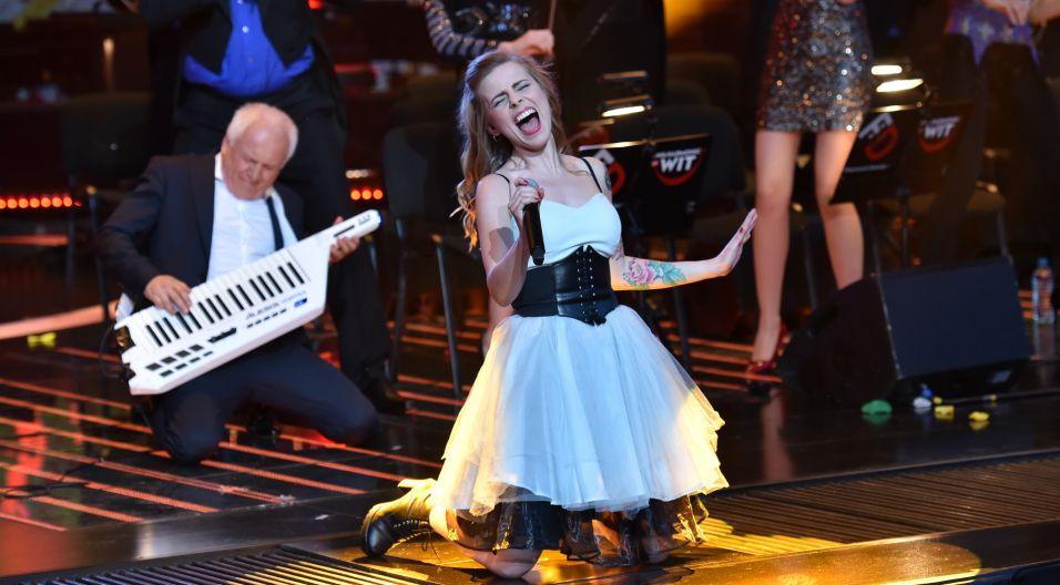 Jak dyrygent każe, trzeba śpiewać! Jaki utwór musiała wykonać pani Marta? (fot. Ireneusz Sobieszczuk)