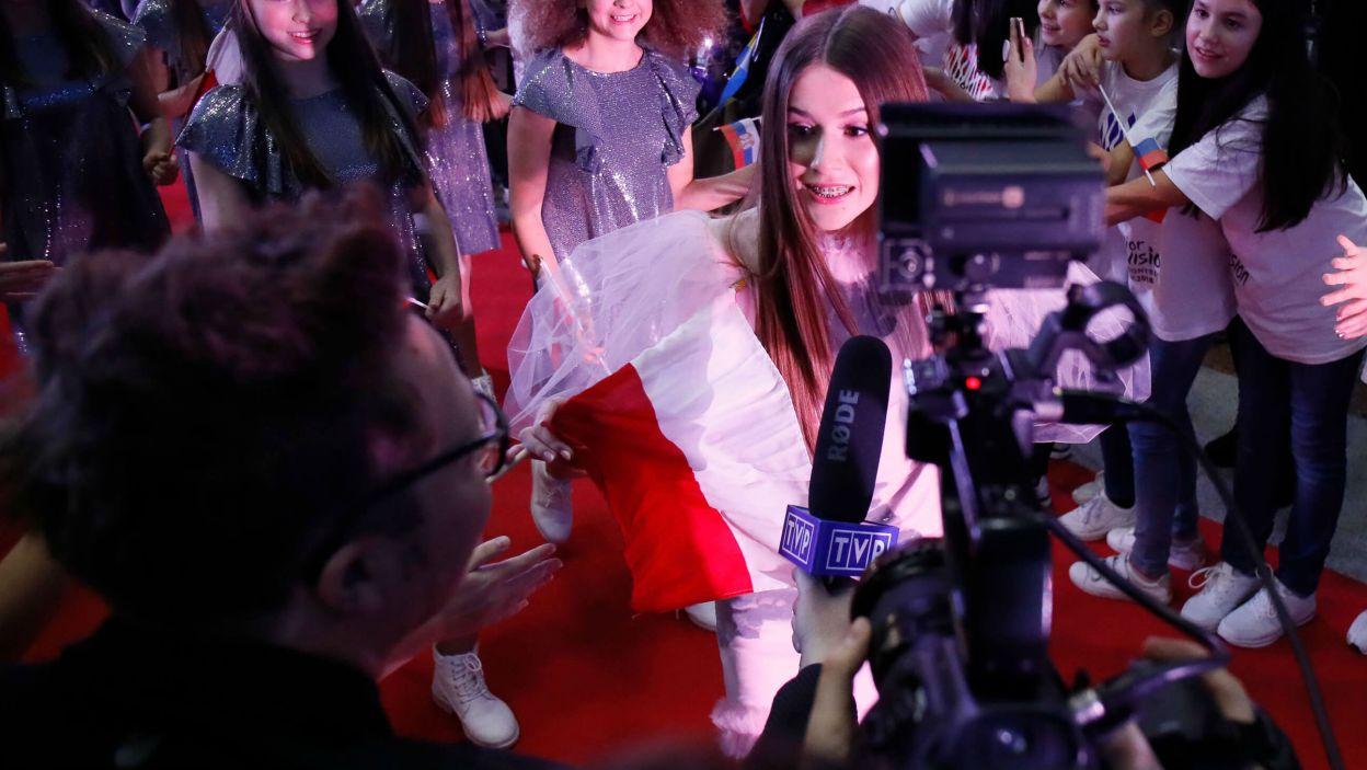 Roksana Węgiel chętnie rozmawiała z dziennikarzami  (fot. Andres Putting/Eurovision)