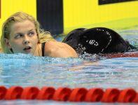 Niemka Britta Steffen wygrała finałowy wyścig na 100 m stylem dowolnym (fot. PAP)