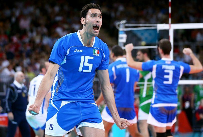 Emanuele Birarelli szalał z radości (fot. PAP/EPA)