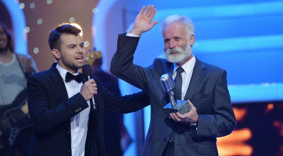 Specjalną nagrodę otrzymał Marek Grąbczewski – realizator dźwięku TVP od lat zajmujący się mikrofonami (fot. I. Sobieszczuk/TVP)