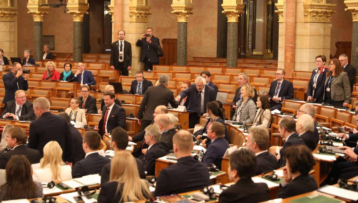 Wicemarszałek Sejmu i marszałek Senatu wzięli udział w X Szczycie Przewodniczących Parlamentów Państw Europy Południowo-Wschodnie (fot. Twitter/@KancelariaSejmu)