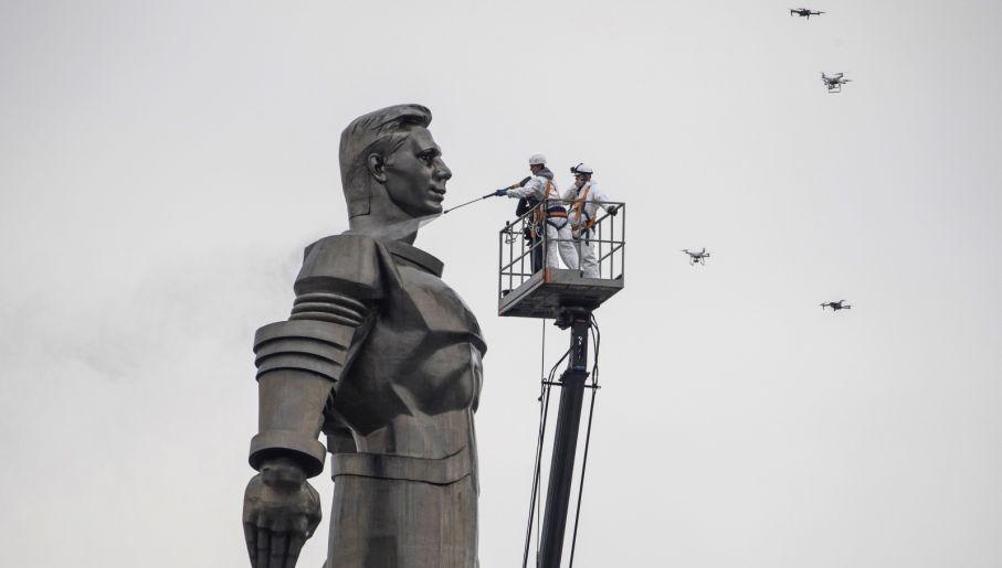 Jurij Gagarin jest oficjalnie pierwszym człowiekiem w kosmosie (fot. PAP/EPA/SERGEI ILNITSKY)