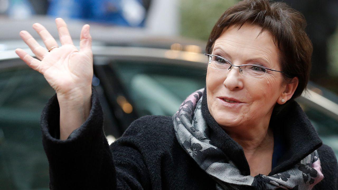 Była premier Ewa Kopacz, obecnie wiceszefowa PO (fot. REUTERS/Christian Hartmann)