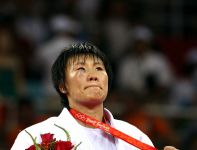 Yang Xiuli zdobyła złoto w kategorii do 78 kg (fot. Getty Images)