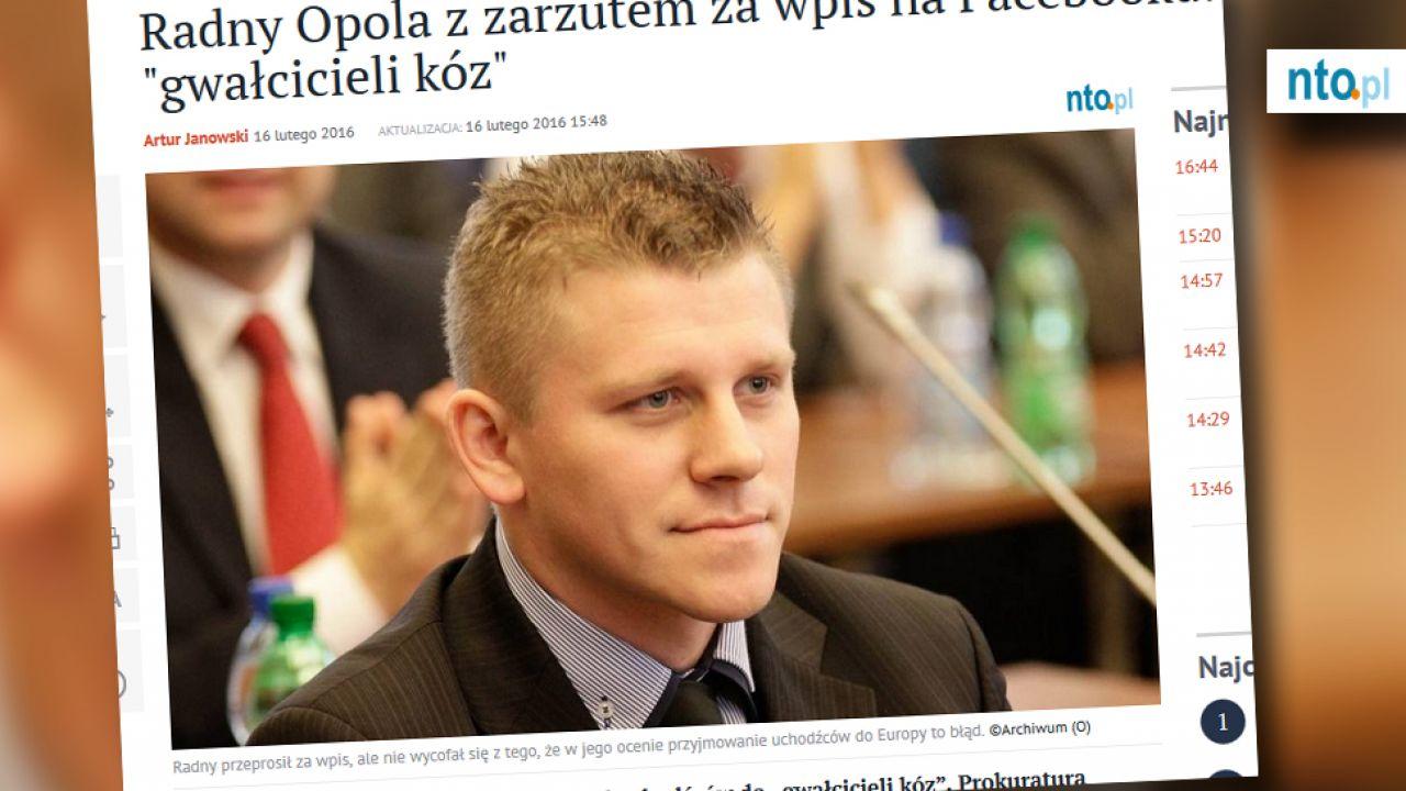 Tomaszowi Wróblowi grożą nawet 3 lata więzienia (fot. Nto.pl)