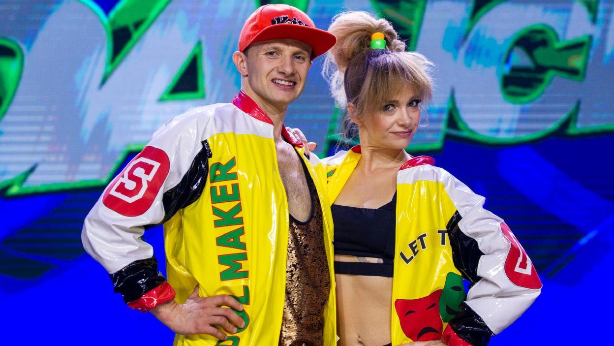 Marta i Paweł musieli sprostać nie lada wyzwaniu. Chwycili jednak tanecznego byka za rogi i na scenie zachwycili jurorów energią (Natasza Mludzik/ fot. TVP)