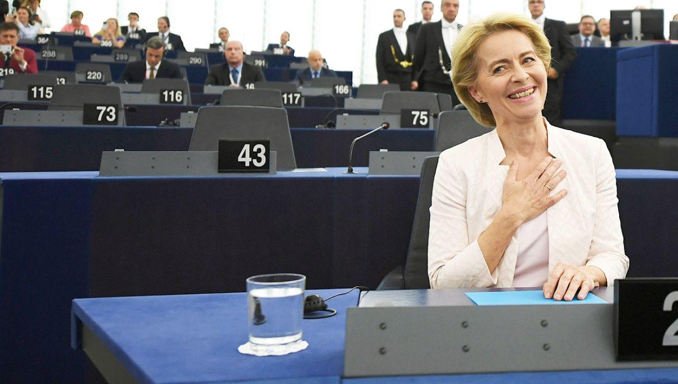 Ursula von der Leyen nowa szefową KE (fot. PAP/EPA/PATRICK SEEGER)