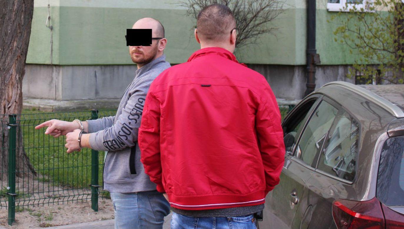 Marcin P. chwilę po zatrzymaniu (fot. policja.waw.pl)