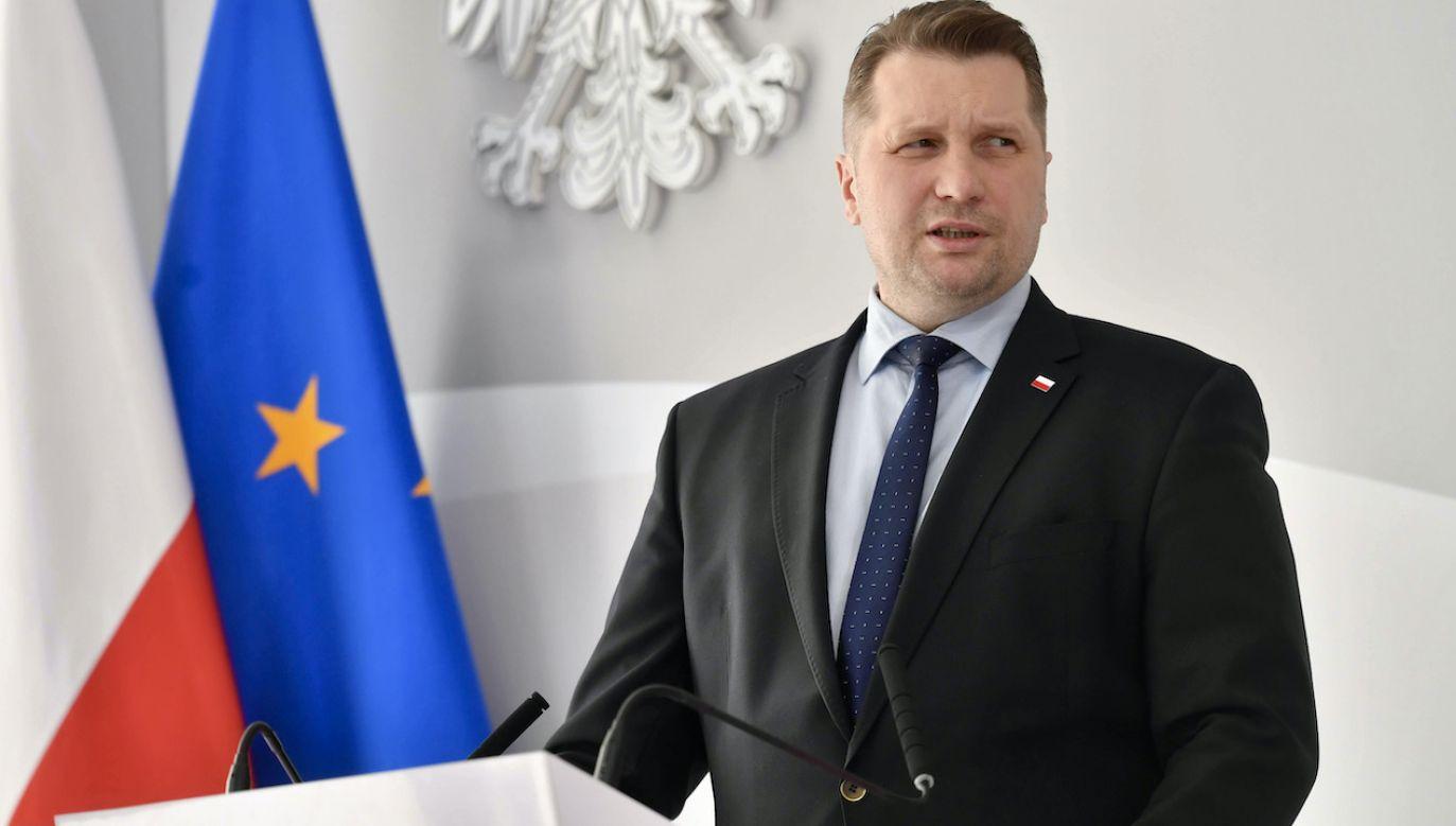 Przemysław Czarnek o powrocie do szkół (fot. arch.PAP/Piotr Nowak)