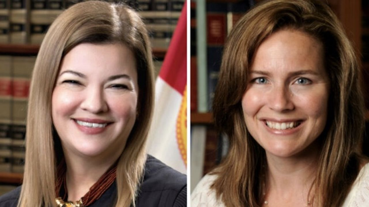 Brane pod uwagę kandydatki  to Barbara Lagoa oraz Amy Coney Barrett (fot. Florida Supreme Court, Notre Dame University/Handout via Reuters)