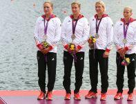 Drugie miejsce w wyścigu K4 na 500 metrów wywalczyły Niemki (fot. Getty Images)