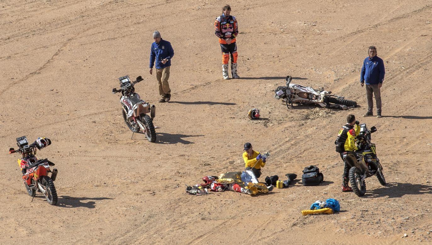 Portugalczyk po raz 13. brał udział w Rajdzie Dakar (fot.PAP/EPA/ANDRE PAIN)