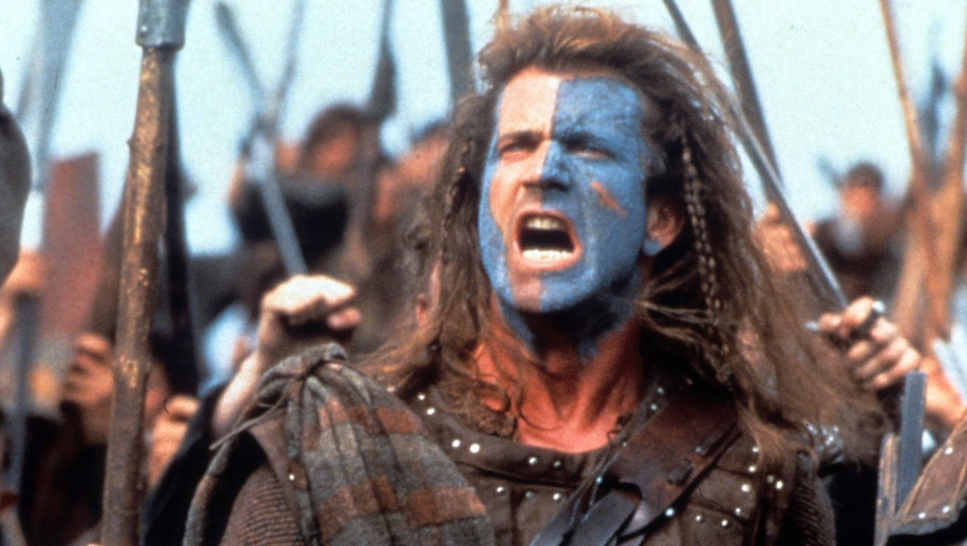 """Mel Gibson w filmie """"Braveheart''. Fot. 20th Century-Fox/Getty Images"""