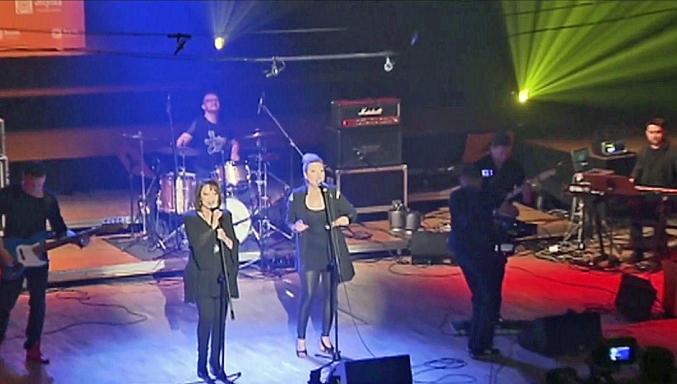 Na scenie wystąpiła m.in. Izabela Trojanowska (fot. TVP Info
