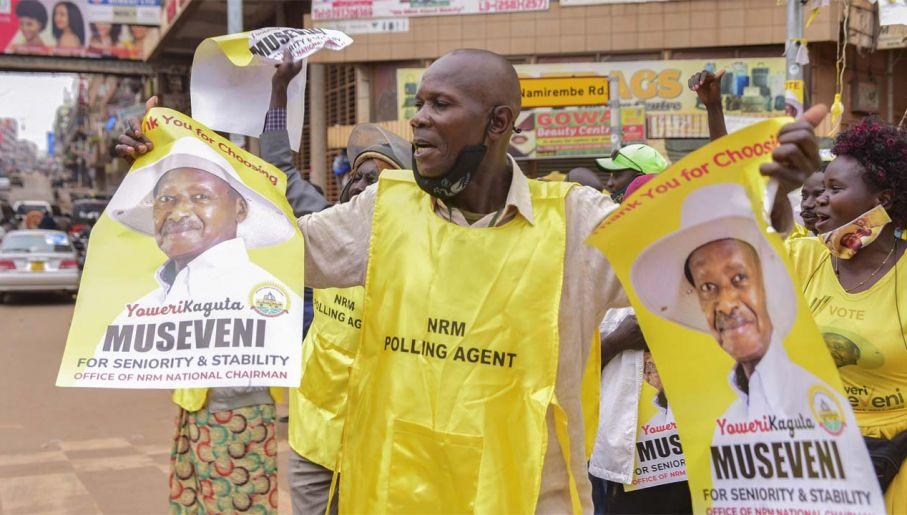 Museveni rządzi od 1986 roku (fot. PAP/EPA/STR)