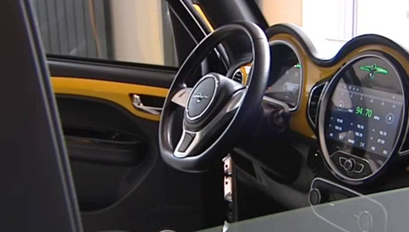 Auto zaprojektowała rodzinna firma spod Częstochowy (fot. TVP3 Katowice)
