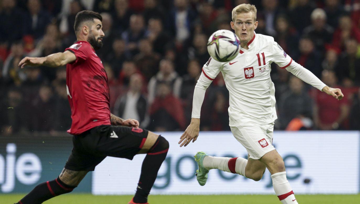 Karol Świderski został bohaterem meczu z Albanią (fot. PAP/EPA)