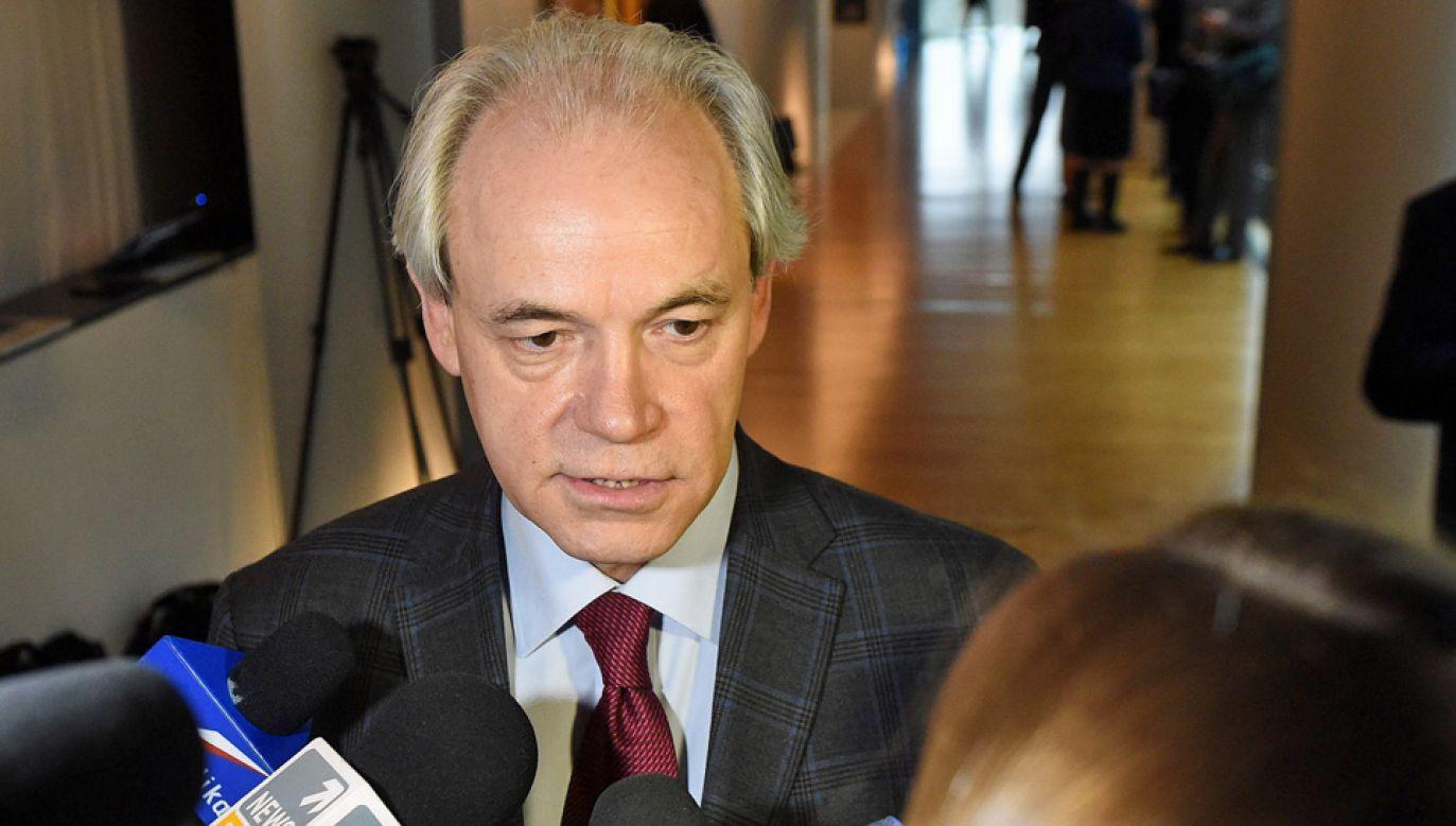 Adam Szejnfeld stara się o mandat senatora (fot. arch.PAP/Radek Pietruszka)