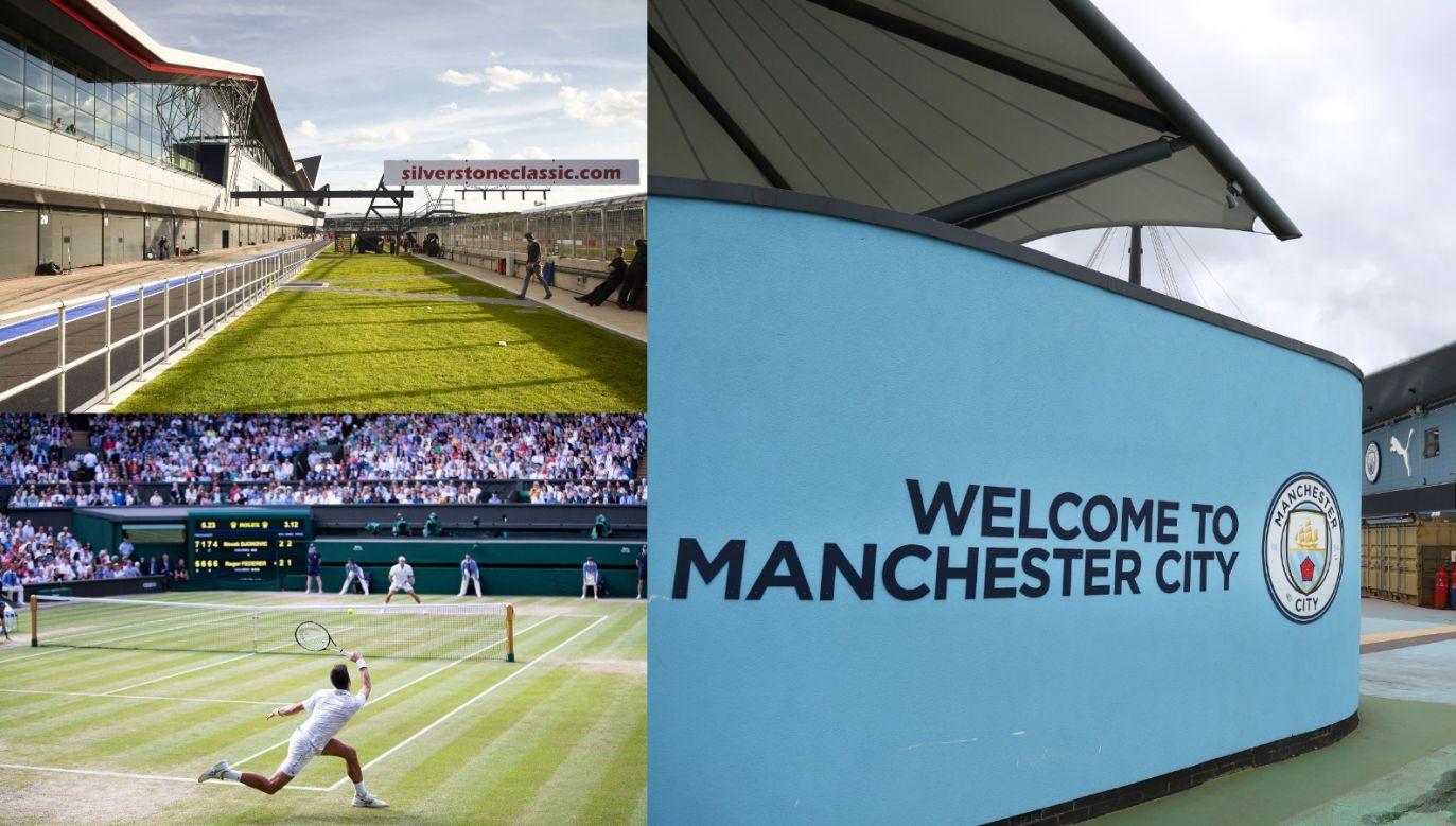 Tor Silverstone, korty WImbledonu i stadion Manchesteru City zostaną tymczasowymi szpitalami (fot. gettyimages)