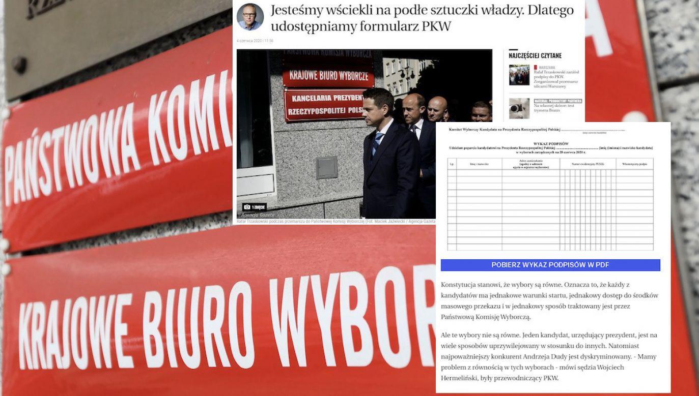 Jarosław Kurski zapewnia, że to nie agitacja (fot. arch.PAP/Leszek Szymański, screen wyborcza.pl)