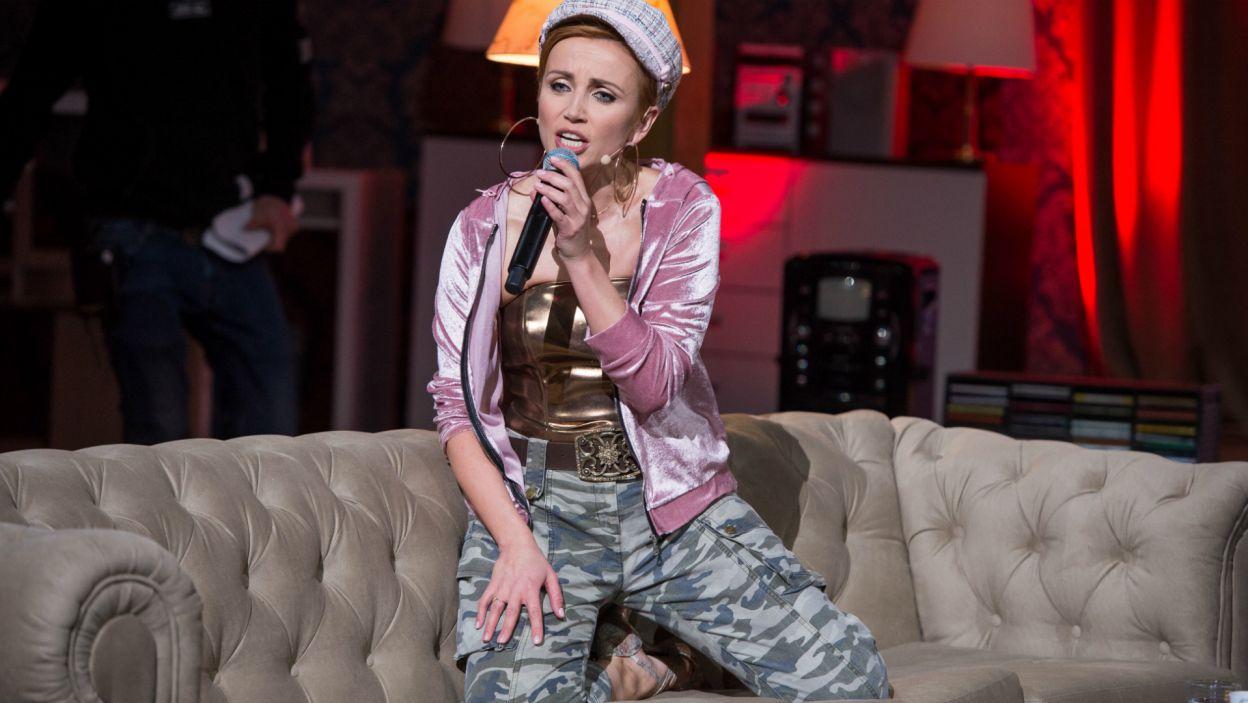 """Na dyskotekowych parkietach rządził utwór """"Call On Me"""" oraz """"Dżaga"""" zespołu Virgin - ten kawałek przypomniała Kasia (fot. TVP)"""