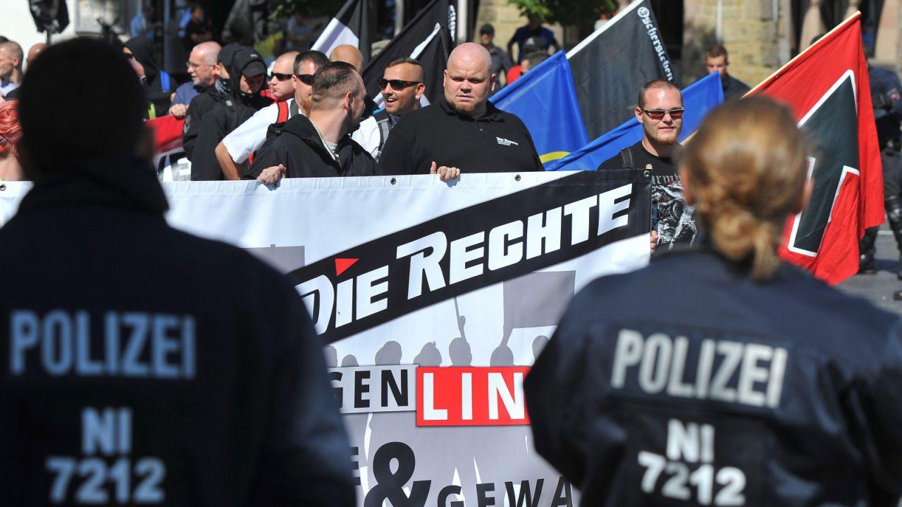 Antyimigrmackie protesty w Niemczech (fot. PAP/EPA/SWEN PFOERTNER)