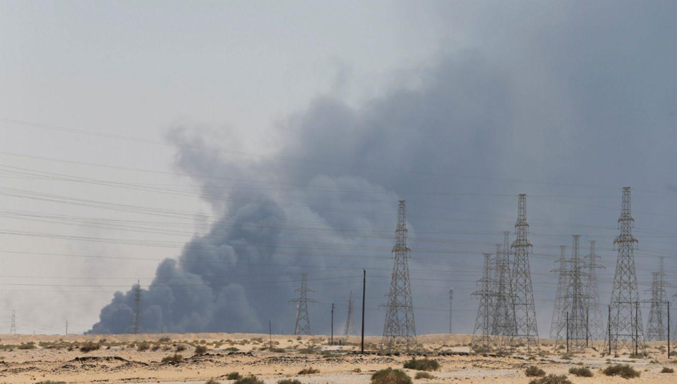 Celem ataku były dwie instalacje naftowe w mieście Bukajk (Abqaiq) i Churajs (Khurais) na wschodzie Arabii Saudyjskiej (fot. REUTERS/Stringer/Hamad I Mohammed)