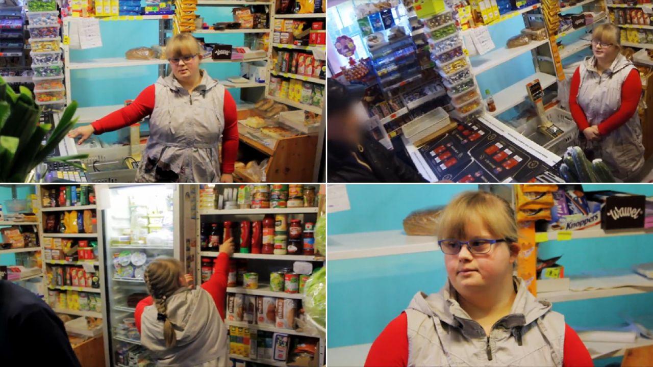 Ania zaskoczyła klientów sklepu spożywczego (fot. Facebook/Stowarzyszenie Rodzin i Przyjaciół Dzieci z Zespołem Downa)