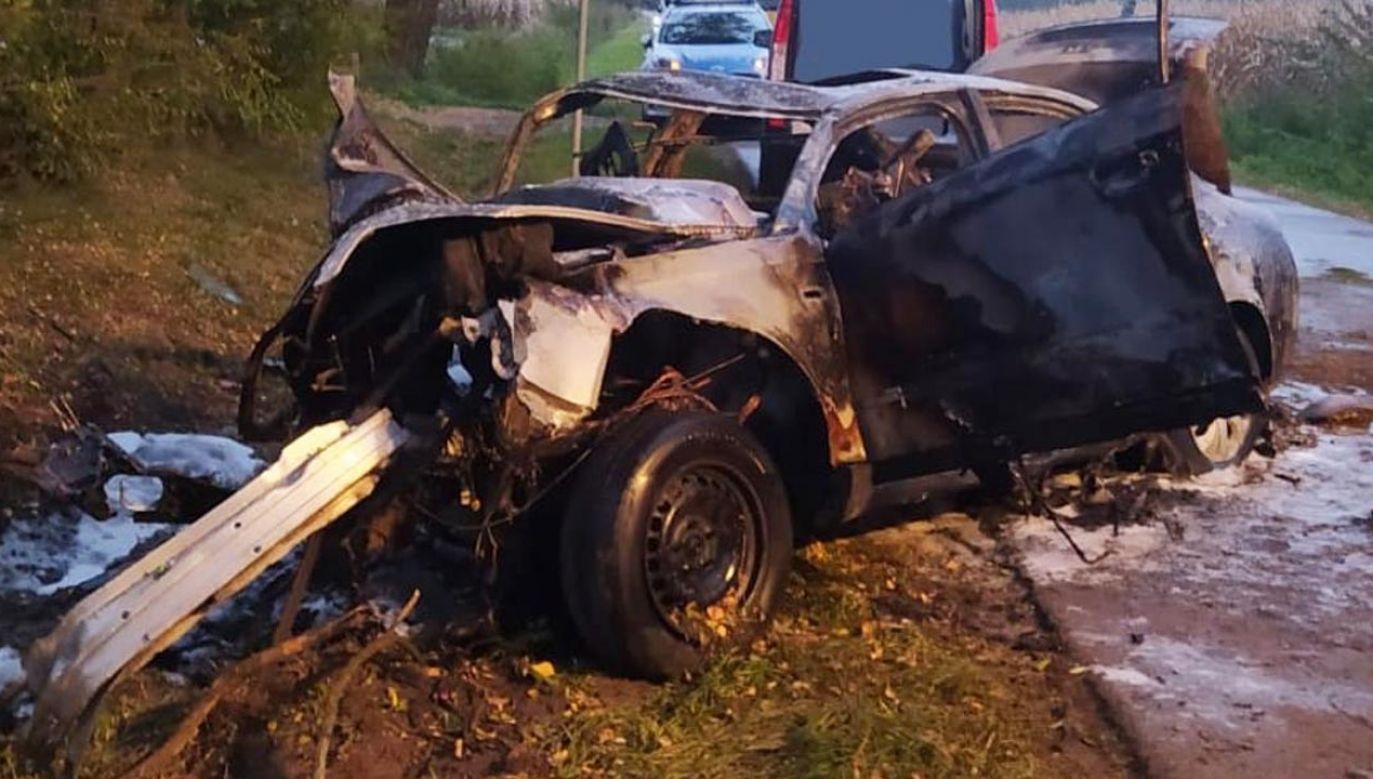 Śmiertelny wypadek w Romanowie (fot. Straż Pożarna)