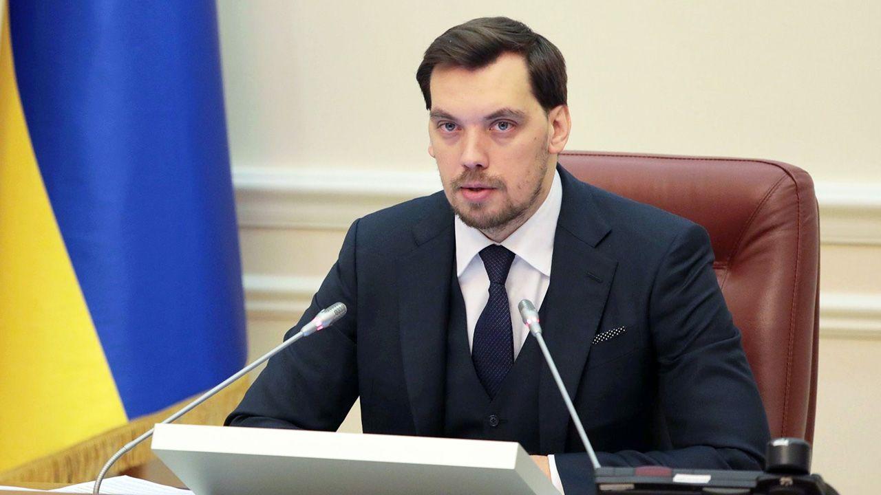 Premier Ukrainy Ołeksij Honczaruk (fot. Hennadii Minchenko/ Ukrinform / Barcroft Media via Getty Images)