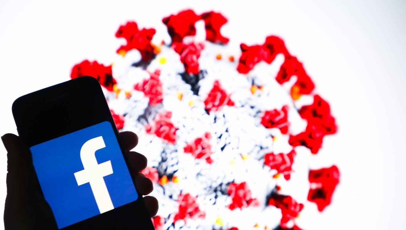 Dyrektor generalny Facebooka powiedział w niedzielę, że firma przekazała służbie zdrowia USA 720 000 masek (fot. Beata Zawrzel/NurPhoto via Getty Images)