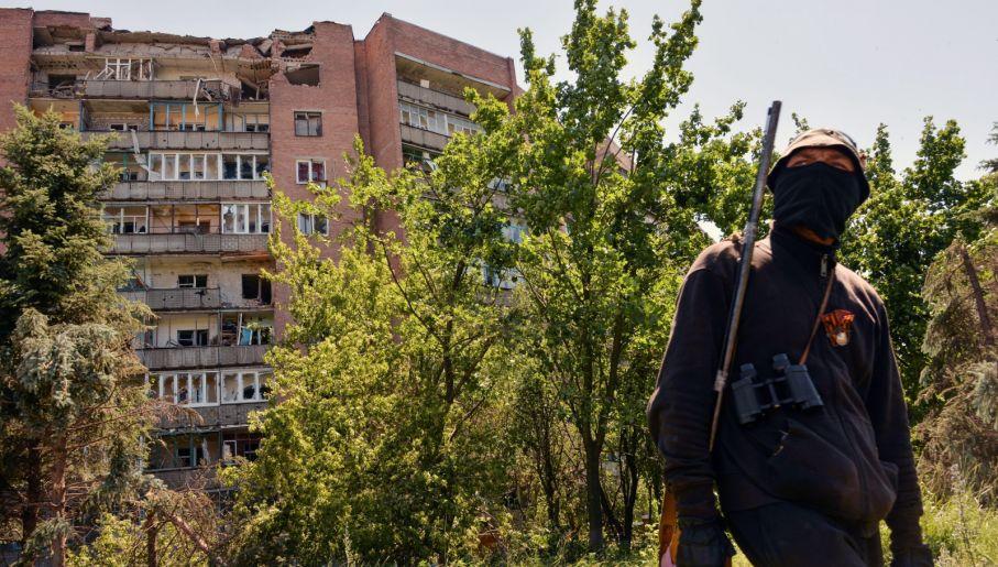 Separtysta z Kramatorska (fot. PAP/EPA/STRINGER)