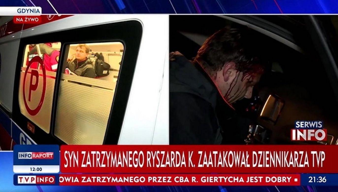 Według prokuratury, Aleksander K. groził dziennikarzowi TVP zniszczeniem sprzętu oraz pozbawieniem życia (fot. TVP Info)