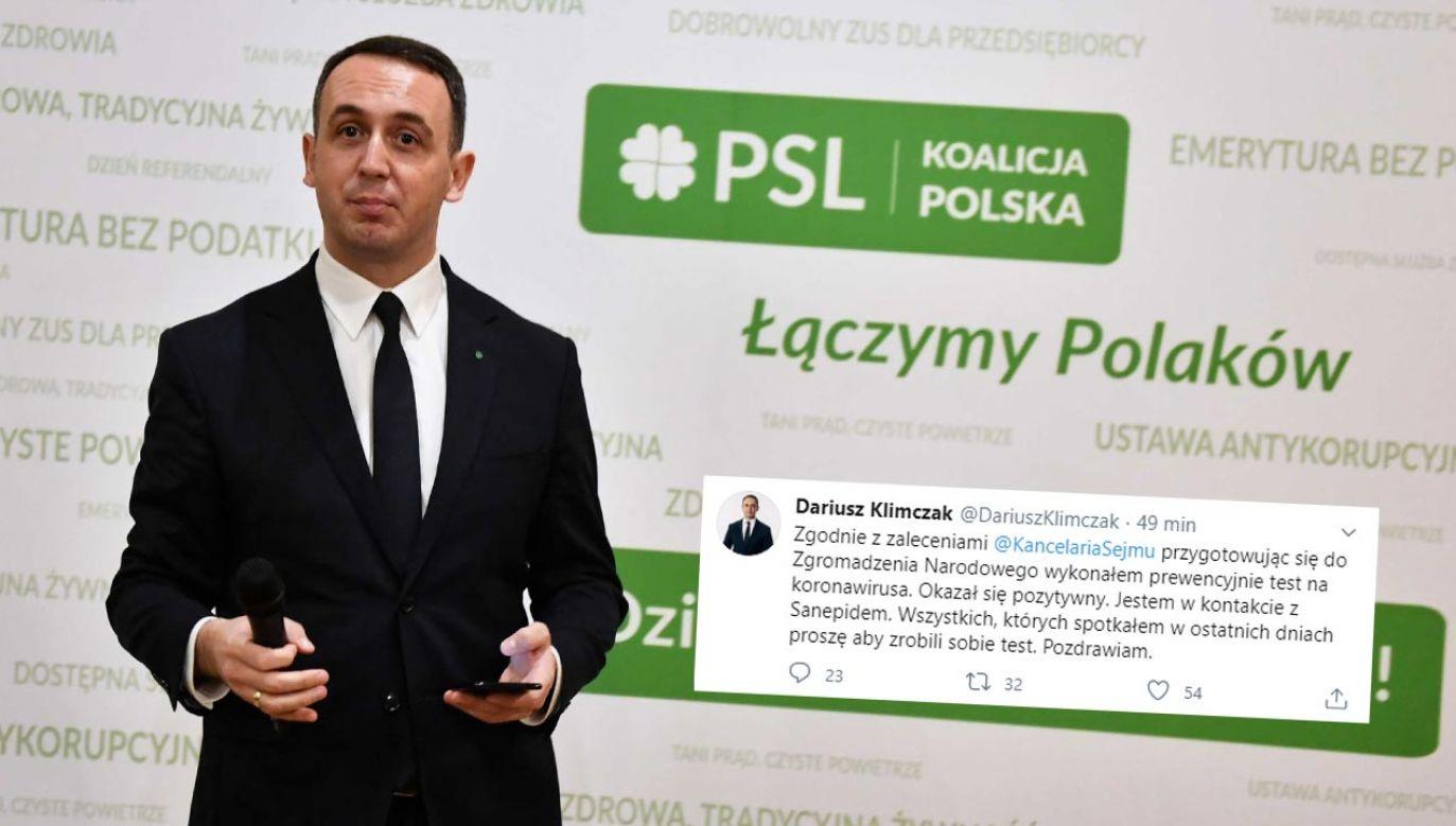 Dariusz Klimczak jest szefem łódzkich struktur Stronnictwa (fot. PAP/Grzegorz Michałowski)