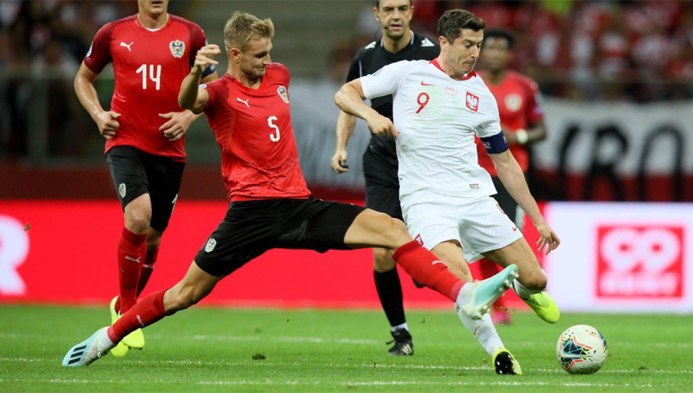 Robert Lewandowski poprzednio nie strzelił gola na stadionie narodowym w 2014 roku (fot. PAP/Leszek Szymański)
