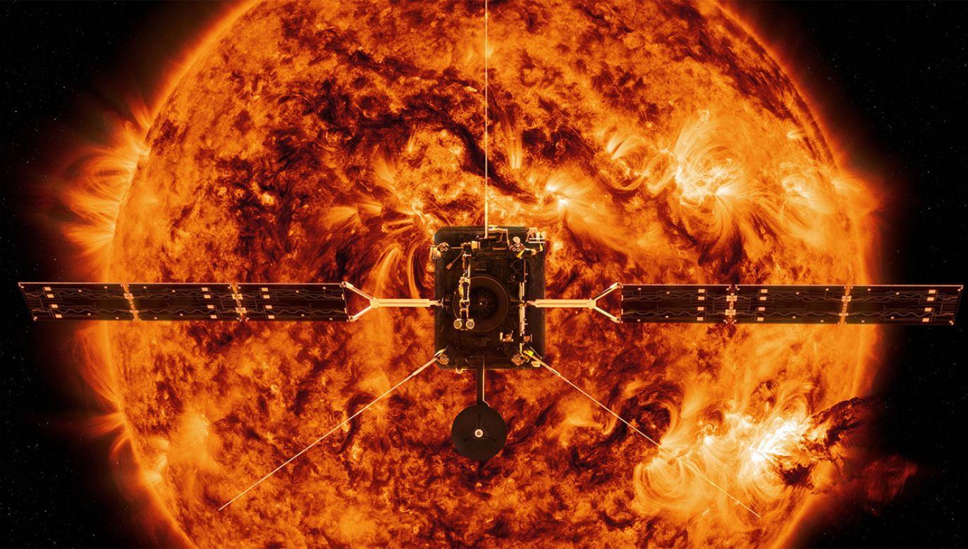Solar Orbiter poleci w ramach misji Europejskiej Agencji Kosmicznej i amerykańskiej NASA (fot. PAP.EPA/ESA/ATG MediaLab/NASA HANDOUT)