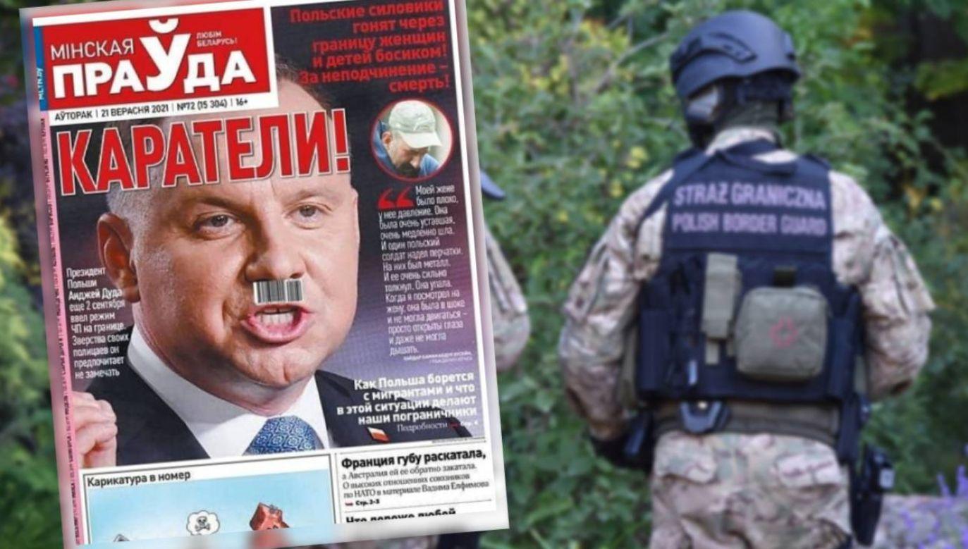 """""""Mińską Prawdę"""" wydają władze obwodu mińskiego (fot. Straż Graniczna/Belkiosk.by)"""