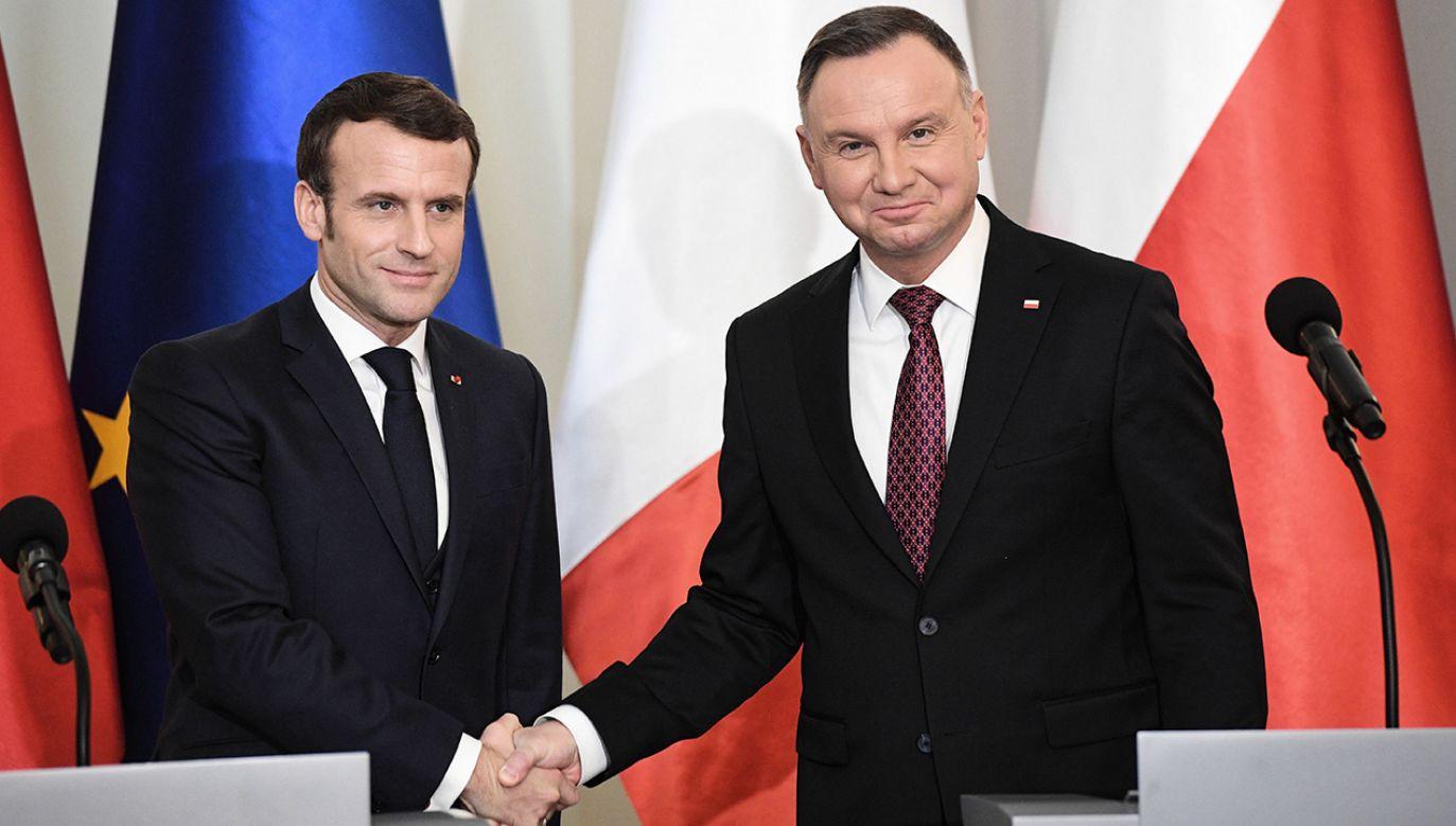 """Macron sytuuje Polskę na czele UE post-brexit – pisze """"El Mundo"""" (fot. arch. PAP/Radek Pietruszka)"""