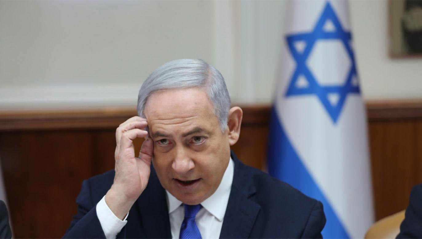 Benjamin Netanjahu jest premierem Izraela od 12 lat (fot. PAP/EPA/ABIR SULTAN)
