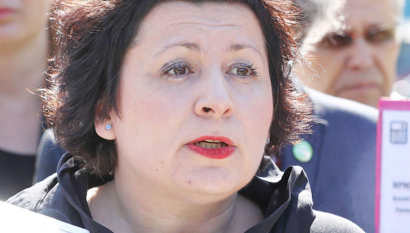 """Agata Diduszko-Zyglewska chce budować z Robertem Biedroniem """"silną"""" lewicę  (fot. arch. PAP/Rafał Guz)"""