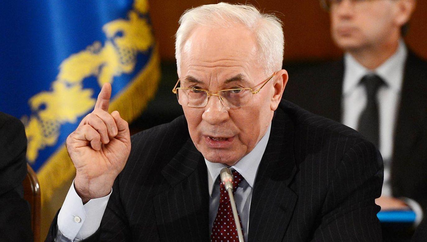 Azarow był premierem za czasów prezydenta Wiktora Janukowycza (fot. Aykut Unlupinar/Anadolu Agency/Getty Images)
