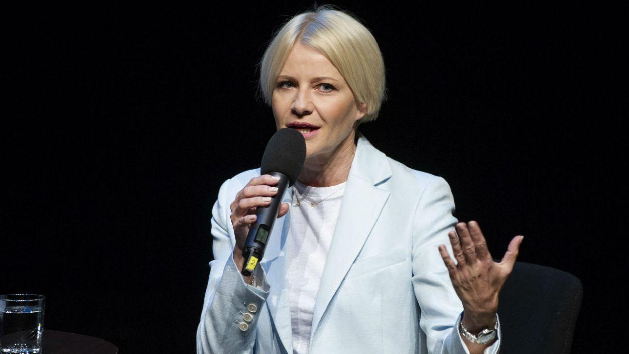 Małgorzata Kożuchowska chętnie bierze udział w spektaklach Teatru Telewizji. Jak podkreśla, to możliwość spotkania znakomitych reżyserów  (fot. N. Młudzik/TVP)