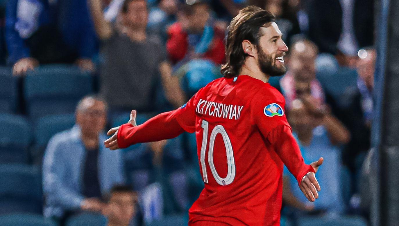W meczu z Izraelem Grzegorz Krychowiak wyprowadził Polskę na prowadzenie (fot. Getty Images)