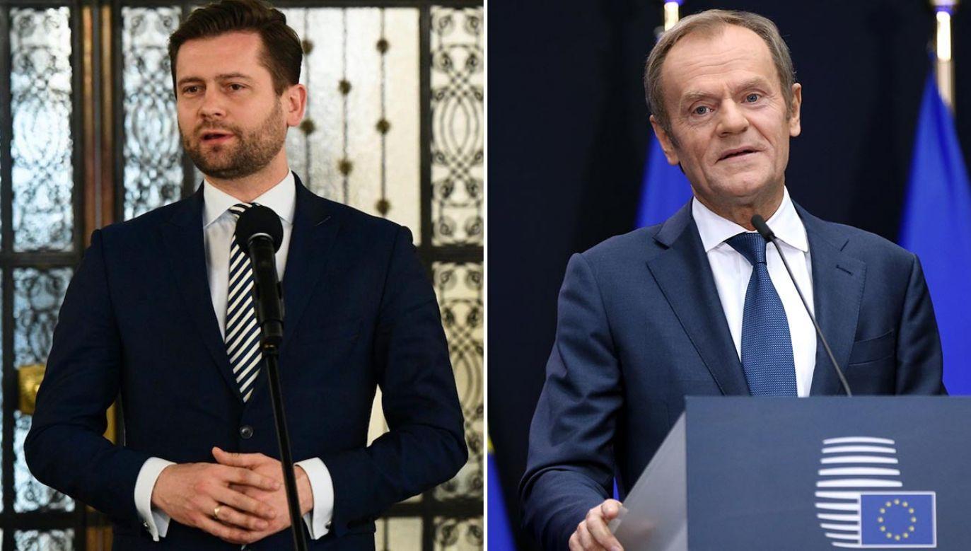 Kamil Bortniczuk nie wypowiedział słów, które zarzuca mu Donald Tusk (fot. PAP/Radek Pietruszka; Dursun Aydemir/Anadolu Agency via Getty Images)