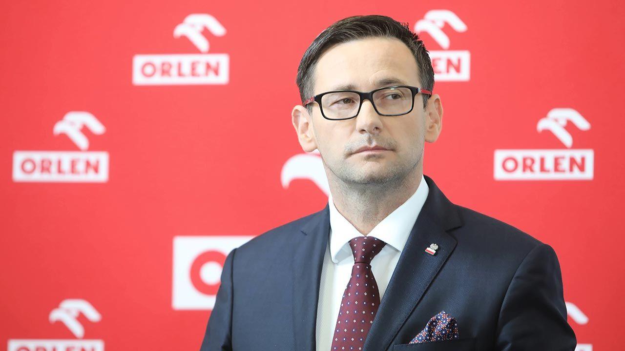 Prezes PKN Orlen Daniel Obajtek (fot. PAP/Wojciech Olkuśnik)
